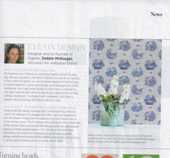 New designer Wallpaper brand feature - Period Living magazine