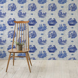 Willow Denim Grey Indigo - DebbieMcKeegan - Wallpaper - 1