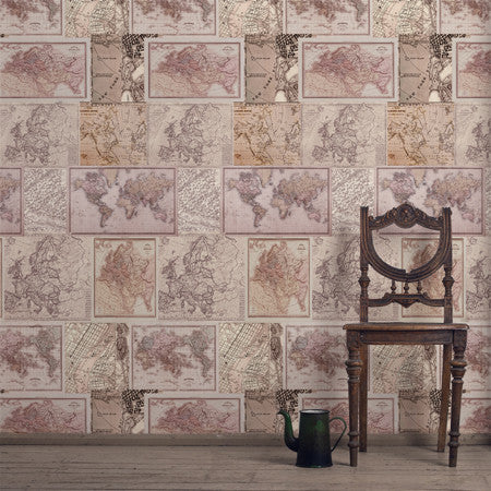 Around The World Neutral Panel - DebbieMcKeegan - Wallpaper - 2