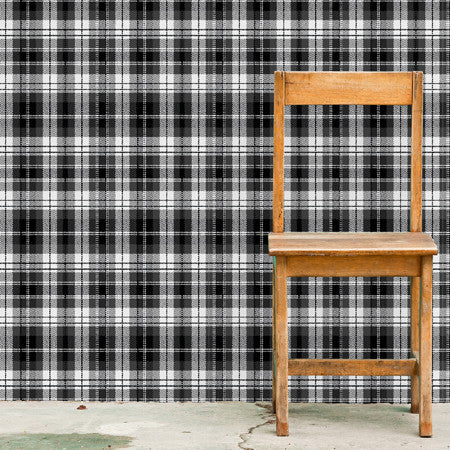 Black + White Tartan - DebbieMcKeegan - Wallpaper - 1