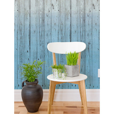 Dip-Dye Wooden Boards Blue - DebbieMcKeegan - Wallpaper - 1