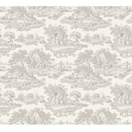Country Toile Grey - DebbieMcKeegan - Wallpaper - 3