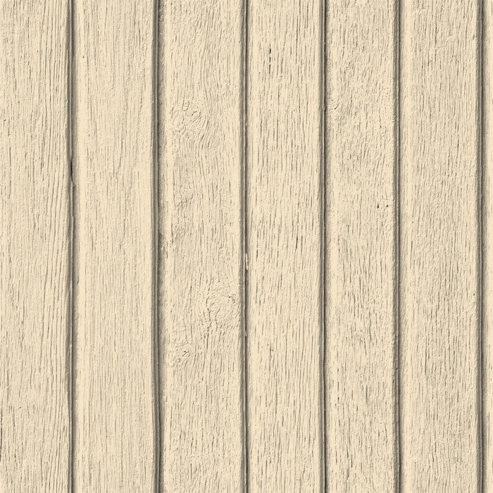 Sawn Wood Slats- Cream - DebbieMcKeegan - Wallpaper - 1