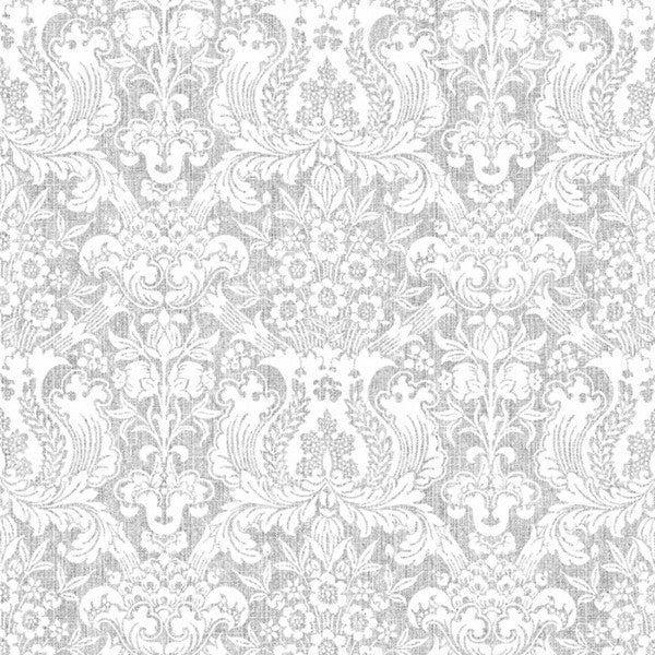 Denim Damask Grey White - DebbieMcKeegan - Wallpaper - 2