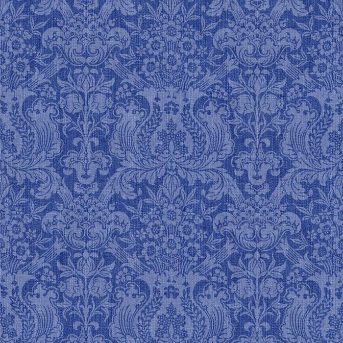 Denim Damask - Indigo (fabric)