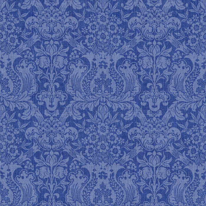 Denim Damask Indigo - DebbieMcKeegan - Wallpaper - 2