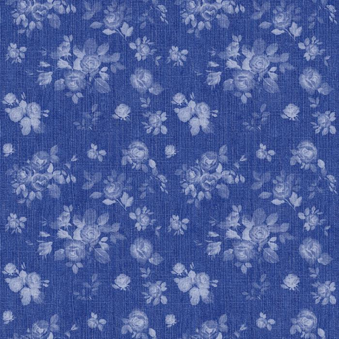Floral Chintz - Indigo (fabric)