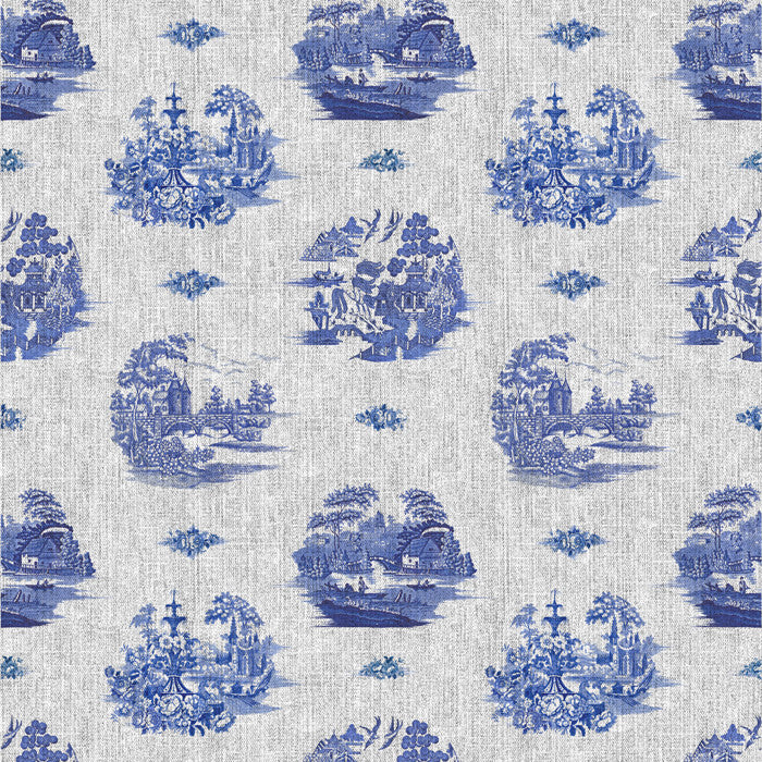 Willow Denim Grey Indigo - DebbieMcKeegan - Wallpaper - 2