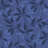 Leafy Denim Scroll Indigo - DebbieMcKeegan - Wallpaper - 2