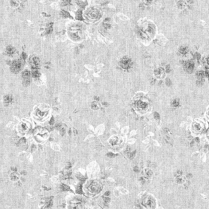 Floral Chintz Grey White - DebbieMcKeegan - Wallpaper - 2
