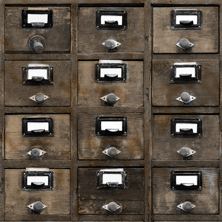 Dark Wood Vintage Drawers - DebbieMcKeegan - Wallpaper - 1