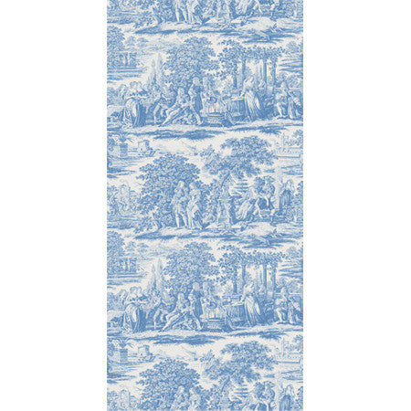 Garden Toile Blue - DebbieMcKeegan - Wallpaper - 3