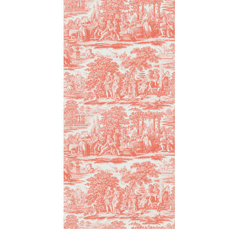 Garden Toile Orange - DebbieMcKeegan - Wallpaper - 3
