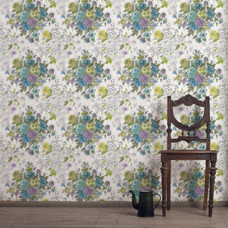 Highgrove Blue : Custom Mural - DebbieMcKeegan - Wallpaper - 2