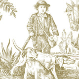 Hunting Toile Gravure Panel - DebbieMcKeegan - Wallpaper - 2
