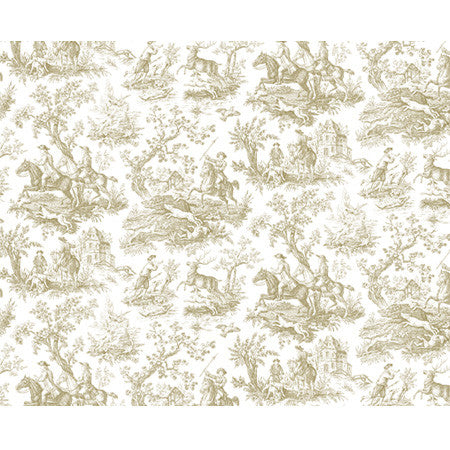 Hunting Toile Gravure Panel - DebbieMcKeegan - Wallpaper - 3