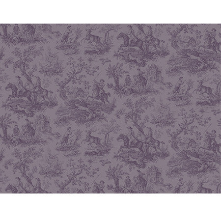 Hunting Toile Plum - DebbieMcKeegan - Wallpaper - 3