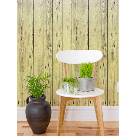 Dip-Dye Wooden Boards Lemon - DebbieMcKeegan - Wallpaper - 1