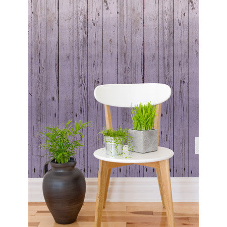 Dip-Dye Wooden Boards Lilac - DebbieMcKeegan - Wallpaper - 1