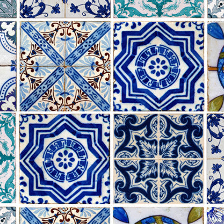 Lisbon Tile : Custom Mural - DebbieMcKeegan - Wallpaper - 1