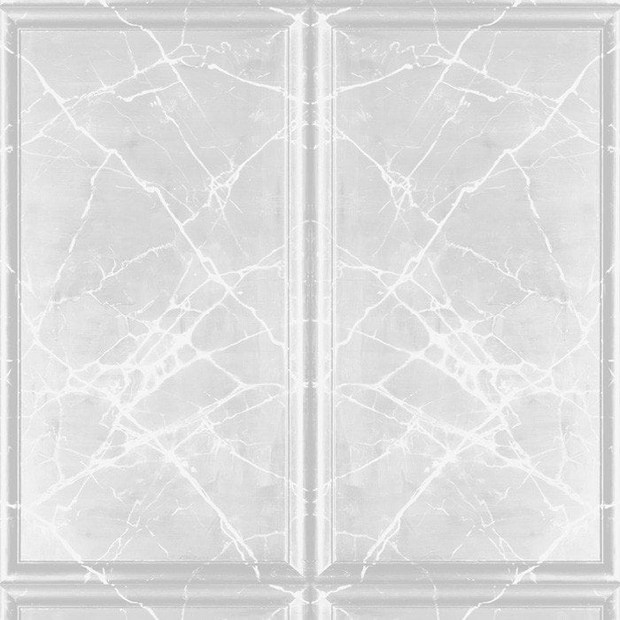 Painted Marble Panel Vintage Grey