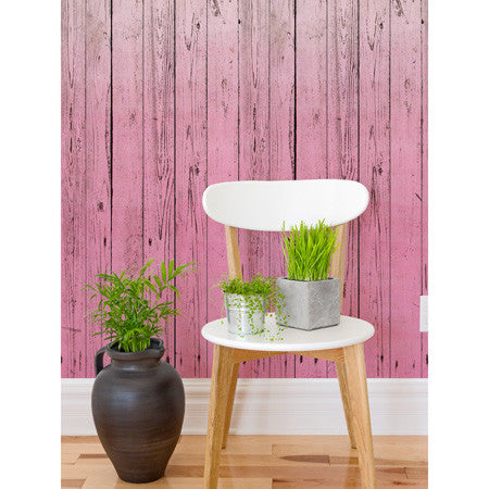 Dip-Dye Wooden Boards Pink - DebbieMcKeegan - Wallpaper - 1