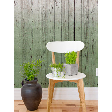 Dip-Dye Wooden Boards Pistachio - DebbieMcKeegan - Wallpaper - 1