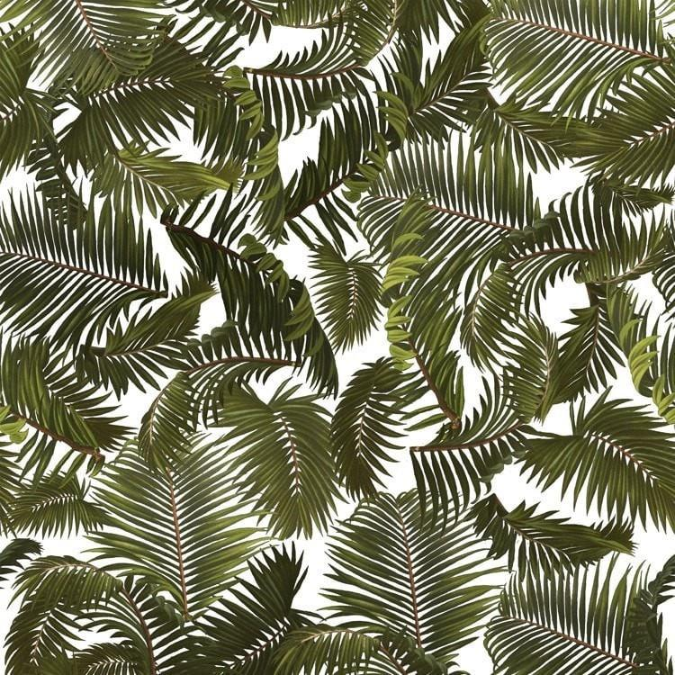 Robustus Palm - White (fabric)