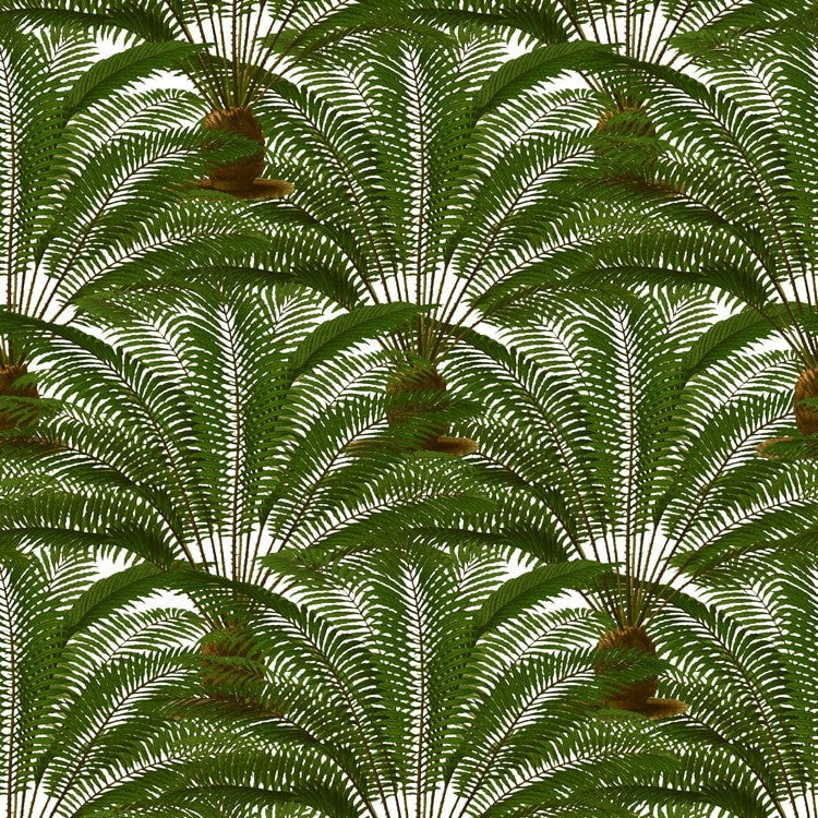 Rock The #Greenery Trend With This Gorgeous Palm Leaves Wallpaper And  Fabric, Finely Detailed