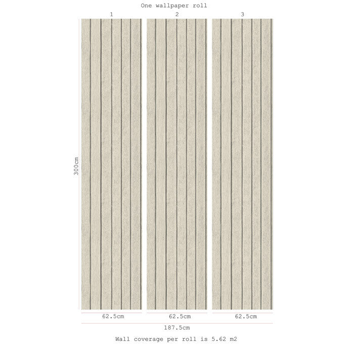 Sawn Wood Slats- Bone - DebbieMcKeegan - Wallpaper - 3