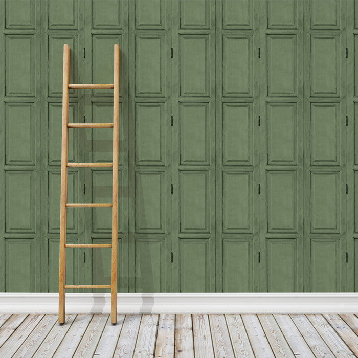 Wooden Panels- Green - DebbieMcKeegan - Wallpaper - 3