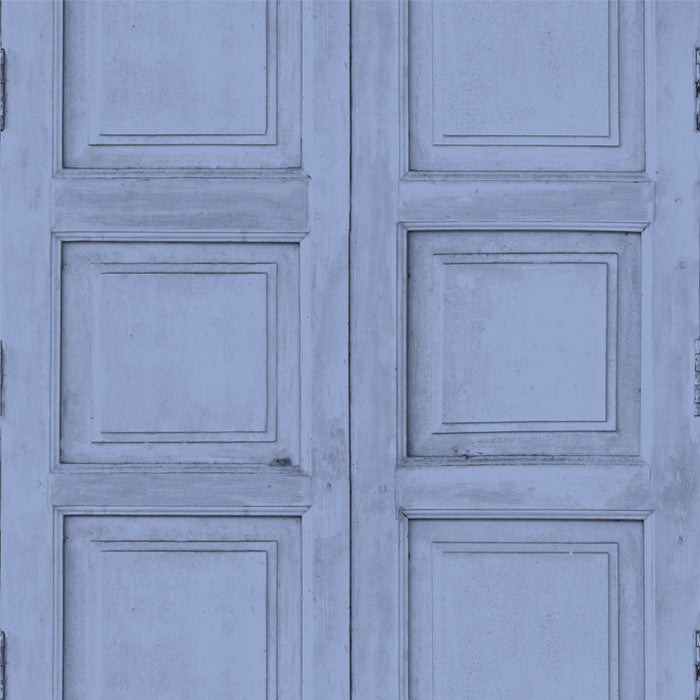 Wooden Square Panels- Blue - DebbieMcKeegan - Wallpaper - 1