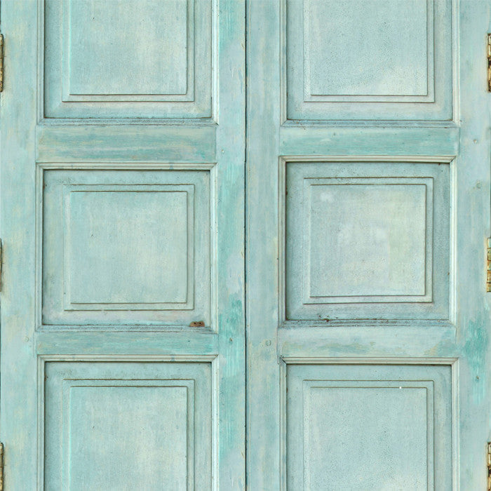 Wooden Square Panels- Turquoise - DebbieMcKeegan - Wallpaper - 1