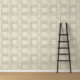Wooden Square Panels- Bone - DebbieMcKeegan - Wallpaper - 3