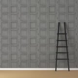 Wooden Square Panels- Mole Grey - DebbieMcKeegan - Wallpaper - 3
