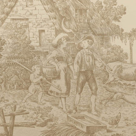 Country Toile Panel - DebbieMcKeegan - Wallpaper - 2