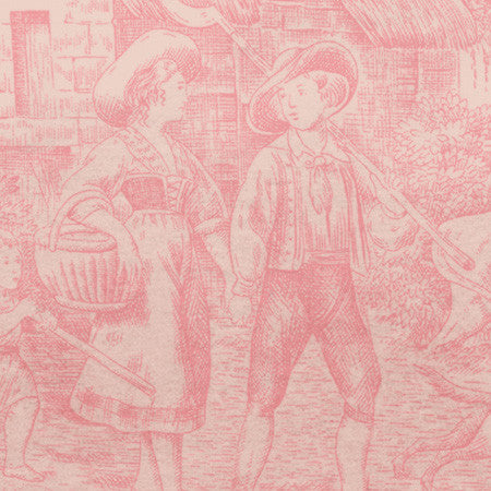 Pink Ombre Country Toile - DebbieMcKeegan - Wallpaper - 2