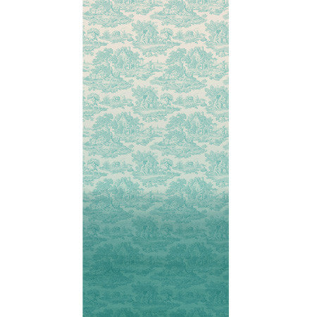 Teal Ombre Country Toile - DebbieMcKeegan - Wallpaper - 3