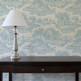 Country Toile Blue - DebbieMcKeegan - Wallpaper - 1