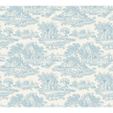 Country Toile Blue - DebbieMcKeegan - Wallpaper - 3