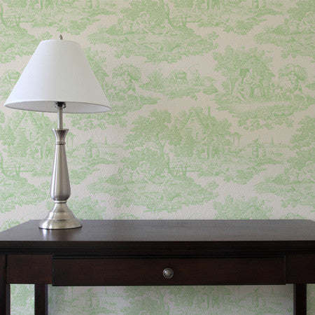 Country Toile Lime - DebbieMcKeegan - Wallpaper - 1