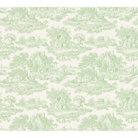Country Toile Lime - DebbieMcKeegan - Wallpaper - 3