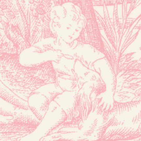 Country Toile Pink - DebbieMcKeegan - Wallpaper - 2