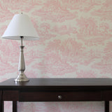 Country Toile Pink - DebbieMcKeegan - Wallpaper - 1