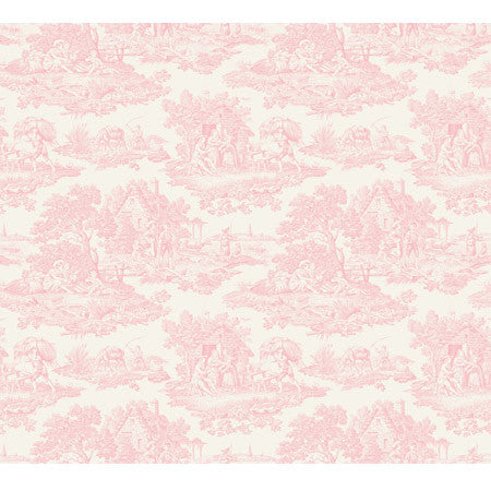 Country Toile Pink - DebbieMcKeegan - Wallpaper - 3