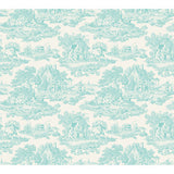 Country Toile Teal - DebbieMcKeegan - Wallpaper - 3