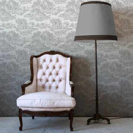 Grey Ombre Country Toile - DebbieMcKeegan - Wallpaper - 1