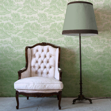 Pistachio Ombre Country Toile - DebbieMcKeegan - Wallpaper - 1