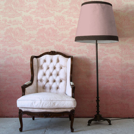 Pink Ombre Country Toile - DebbieMcKeegan - Wallpaper - 1