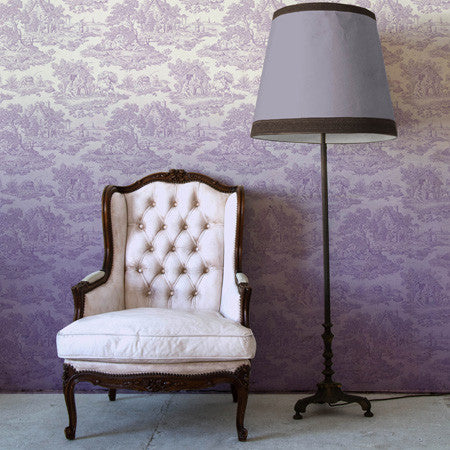 Lilac Ombre Country Toile - DebbieMcKeegan - Wallpaper - 1